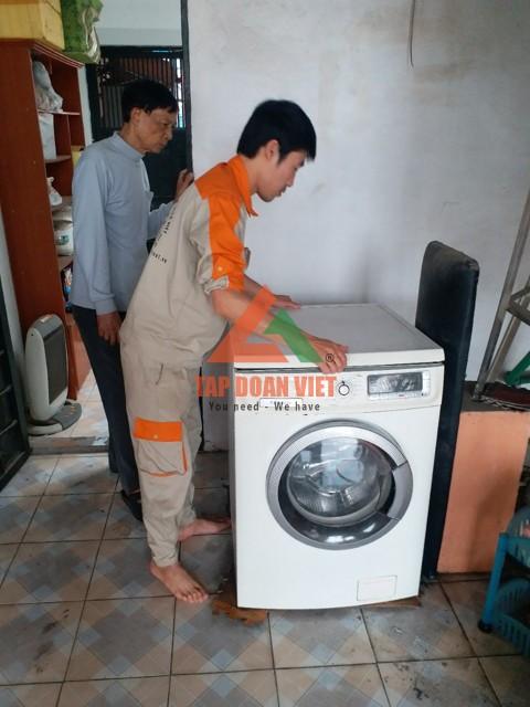 sửa máy giặt bị tắc nước