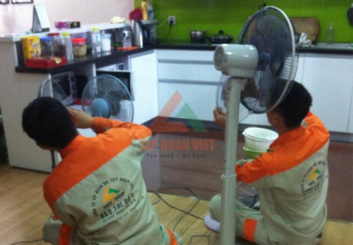 sửa quạt điện không quay với đội ngũ tay nghề cao